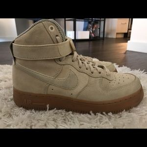 Cream Suede with brown gum AF1...Size 7.5 women's